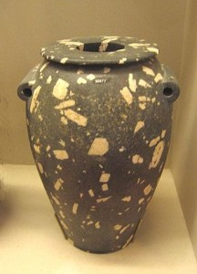 egyptian vases granite