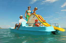 paddle boat excursion with paradise