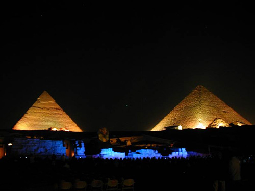 Light and sound show in cairo