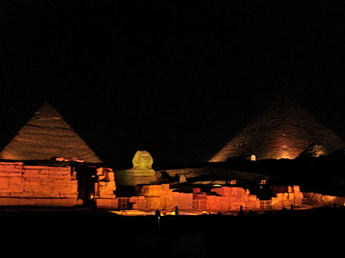 cairo sound and light show night