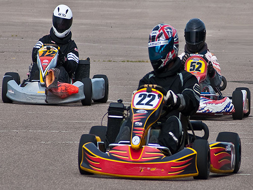 go karting excursions with sharmers