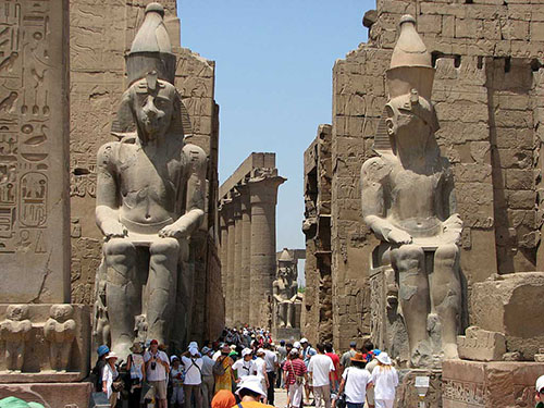 luxor highly active touristic spot