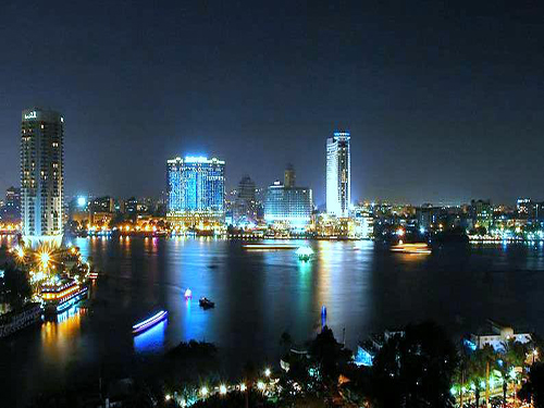 nile cruise cairo at night with sharmers