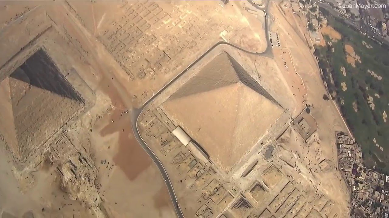 skydiving egyptian pyramids
